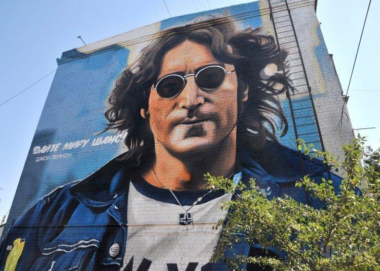 В Изюме открыли мурал с изображением Джона Леннона