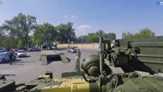 Порошенко похвалился модернизированным на киевском заводе танком Т-72А