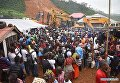 На месте оползня в Сьерра-Леоне
