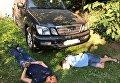 Найденный Lexus и задержание угонщиков