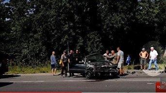 Появилось видео с Дыминским на месте смертельной аварии. Видео