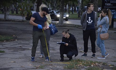 В центре Николаеве неизвестные в масках со стрельбой