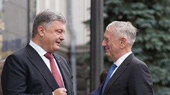 Мэттис и Порошенко на встрече в Киеве