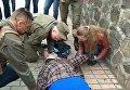 Видео с места взрыва в Киеве