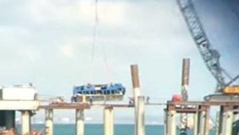 Автобус рухнул в море на Кубани