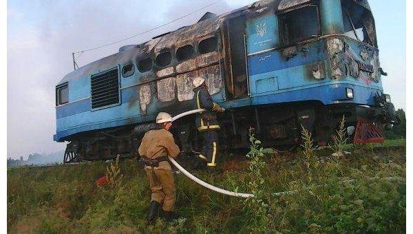 Пожар в поезде в Винницкой области