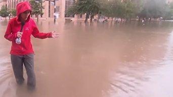 Разрушительное наводнение обрушилось на Хьюстон из-за Харви. Видео