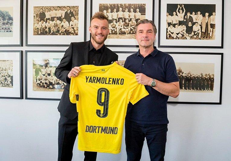 Экс-капитан киевского Динамо Андрей Ярмоленко подписал контракт с дортмундской Боруссией