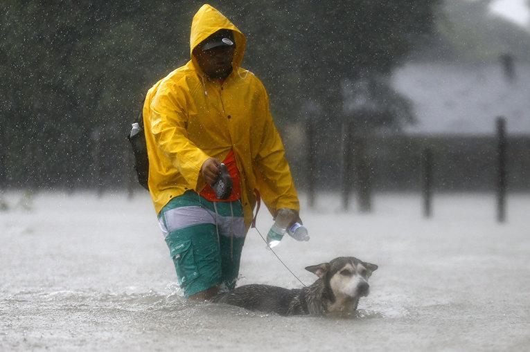 Последствия урагана в Техасе