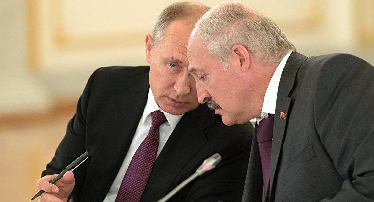 Лукашенко во время братской встречи в Москве