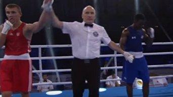 Победа украинского боксера Александра Хижняка. Видео