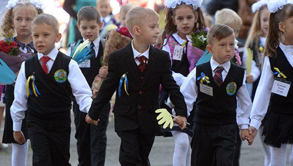 Первое сентября в киевских школах