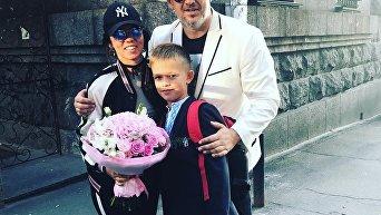 Певец Алексей (Потап) с сыном