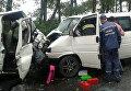 В Харьковской области при лобовом столкновении двух микроавтобусов погибли два человека
