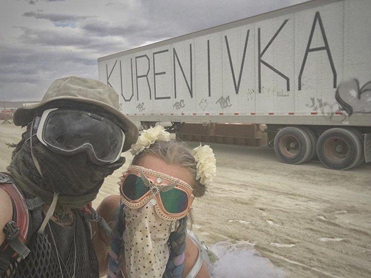 Украинцы на фестивале Burning Man в США разбили лагерь Kurenivka