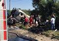 В Тернополе опрокинулся бензовоз
