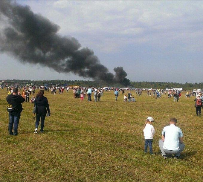 В Балашихе на авиашоу разбился самолет