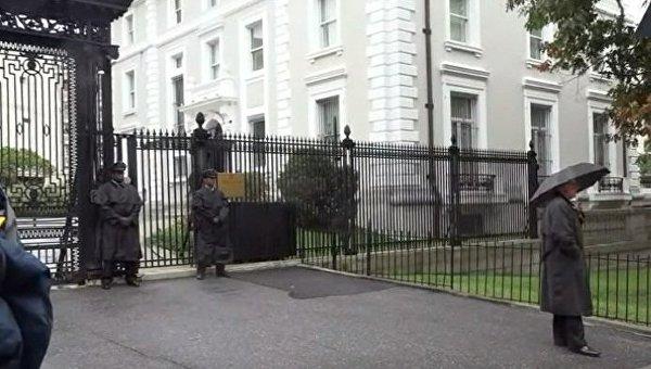 Ситуация в Вашингтоне возле торгпредства РФ
