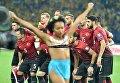 Обнаженная активистка организации Femen выбежала на футбольное поле