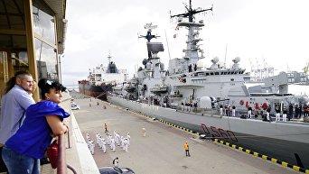 В Одесский порт прибыл итальянский эсминец