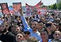 Митинг в Грозном в поддержку мусульман народа рохинджа