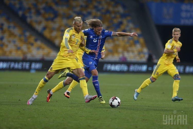 Сборные Украины и Исландии сыграли в ничью в стартовом матче ЧМ-2018