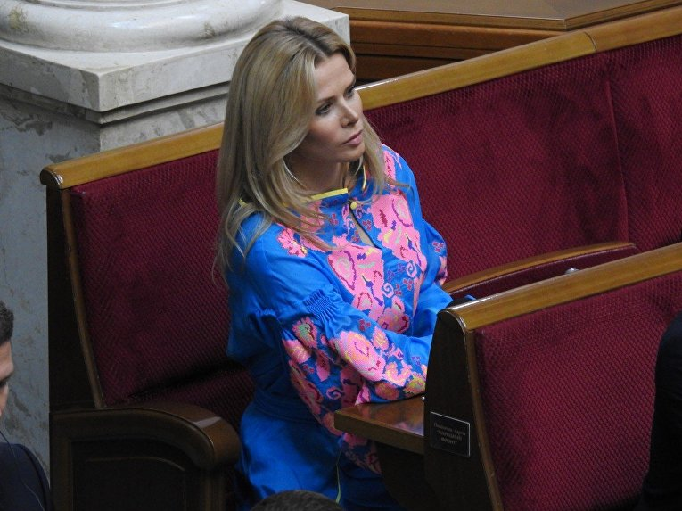 Народный депутат Татьяна Донец во время заседания Верховной Рады Украины, в Киеве, 5 сентября 2017 г.