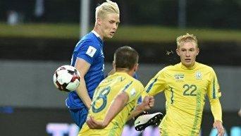Матч отбора на ЧМ-2018 между сборными Исландии и Украины
