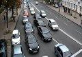 Пробки в правительственном квартале Киева