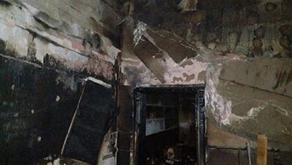 Последствия пожара в кафе-магазине в селе Ивано-Франковской области