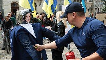 Акция против приезда Михаила Саакашвили в Украину