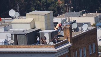 МИД РФ выложил видео с рейдерами на крыше генконсульства в Сан-Франциско. Видео