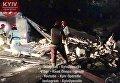 Обвал гаражных боксов в Печерском районе Киева