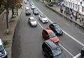 Пробки в правительственном квартале в Киеве