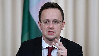 Глава МИД Венгрии П. Сиярто. Архивное фото