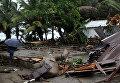 Последствия урагана Ирма на побережье Доминиканской Республики, в Нагуа