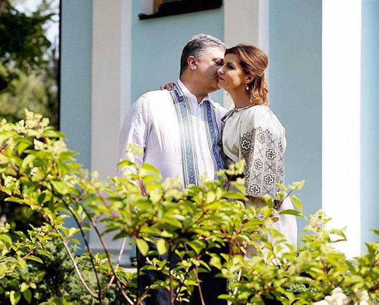 Петр Порошенко с супругой Мариной