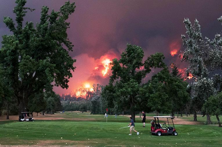 Огненный пожар в Вашингтоне