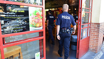 Полицейский наряд в Португалии. Архивное фото