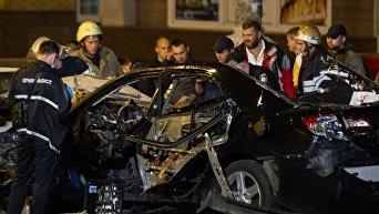 На месте взрыва автомобиля в центре Киева. Архивное фото