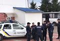 Полиция на границе в день приезда Саакашвили. Видео