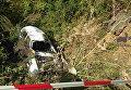 На месте гибели гонщика во время чемпионата по ралли в Черновицкой области