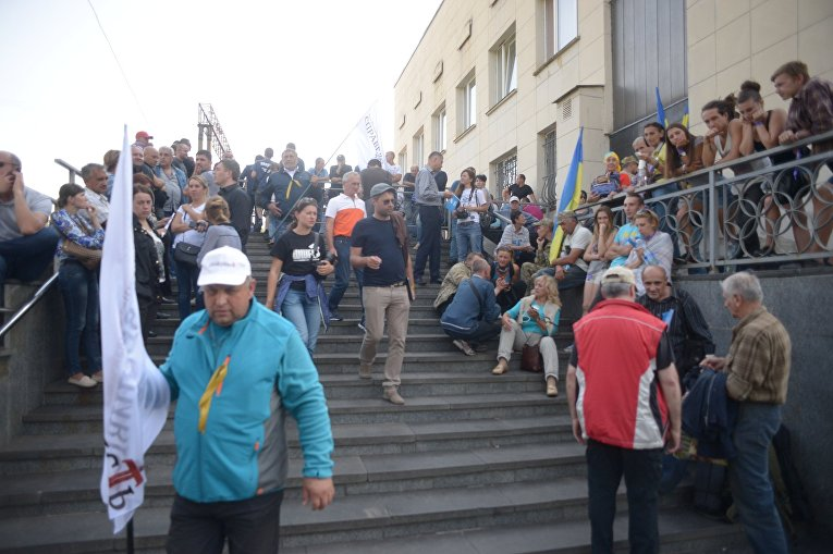 Ожидая Саакашвили. Ситуация в населенном пункте Мостиска  во Львовской области