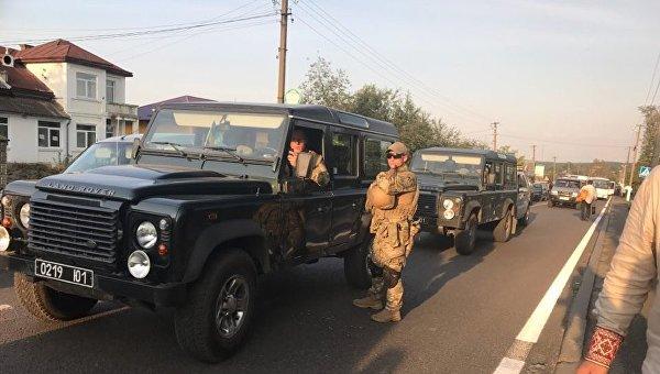 Ситуация на пункте пропуска, где находится Саакашвили