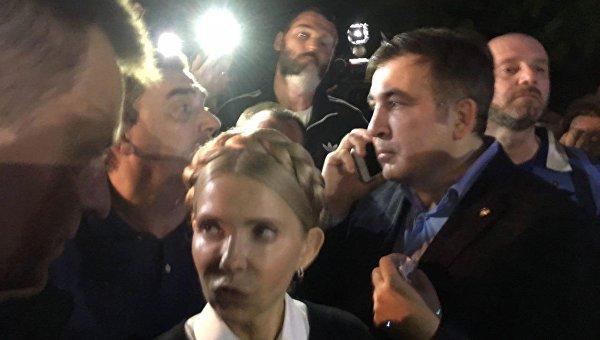 Михаил Саакашвили после прорыва границы