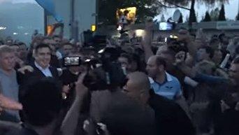 Прорыв границы Саакашвили. Видео