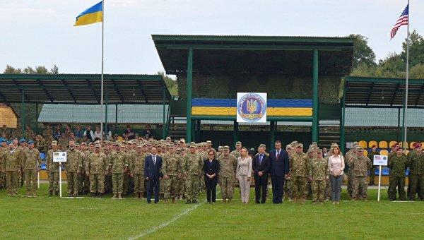 Церемония открытия украинско-американских военных учений Rapid Trident - 2017