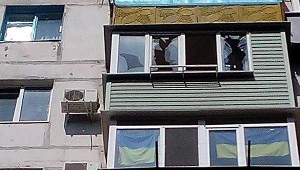 На месте взрыва в Мариуполе