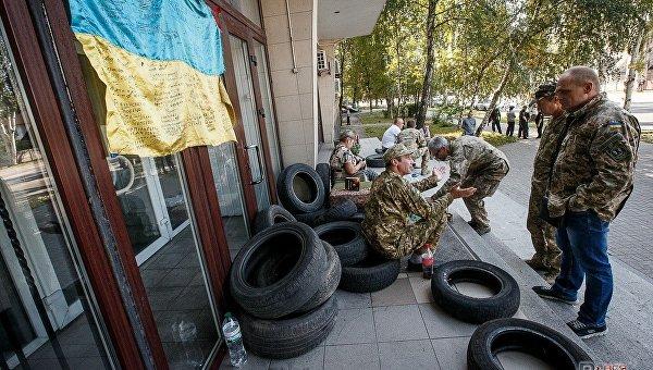 Больше сотни ветеранов АТО вышли напикет вЗапорожье