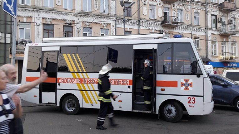 Задымление в метро Киева